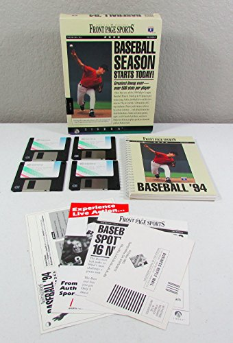 Front Page Sports MLB Baseball '94 PC Game Sierra - MS-DOS - Ms Dos Games