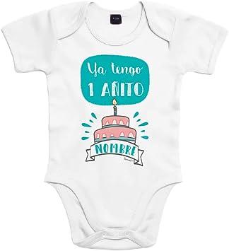 SUPERMOLON Body bebé algodón Ya tengo un añito 3 meses Blanco ...