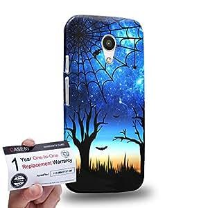 Case88 [Motorola Moto G (2nd Gen)] 3D impresa Carcasa/Funda dura para & Tarjeta de garantía - Art Dreamscapes Silhouettes Fear