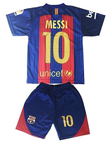Hussain Tees Youth FC Barcelona Messi 10 Jersey Shorts Football Soccer  (Drifit) (10-12 yrs 29ea8da62
