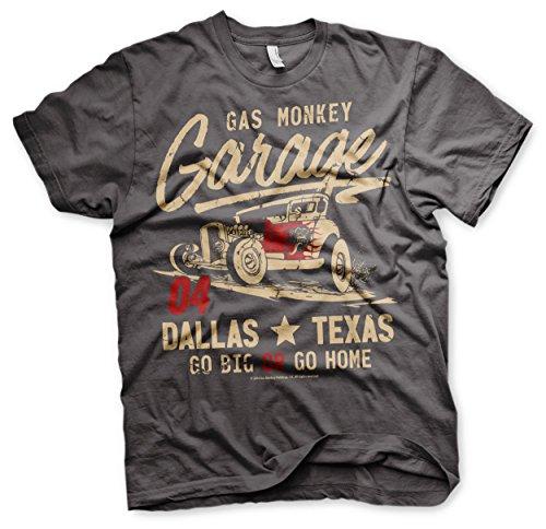 shirt Of Grau Garage Gas The Flames Monkey T Devil Z0Sqwx