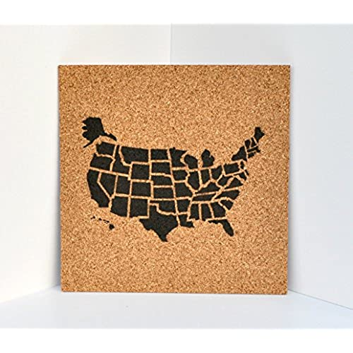 Cork map amazon push pin cork travel map of the united stateswanderlust travel giftusa bulletin boardus corkboard gumiabroncs Image collections