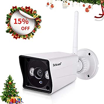 Sricam Wifi Cámara IP HD de seguridad al aire libre interior, hogar 1080P Seguridad inalámbrica