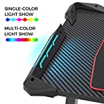 EUREKA ERGONOMIC Z1-S Gaming Desk 43.3″ Z Shaped Office PC Computer Gaming Desk Gamer Tables Pro with RGB Lights Controller Stand Cup Holder Headphone Hook Free Mousepad for Men Boyfriend Female Gift
