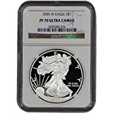 2005 W American Silver Eagle Proof $1 PF70 UCAM NGC