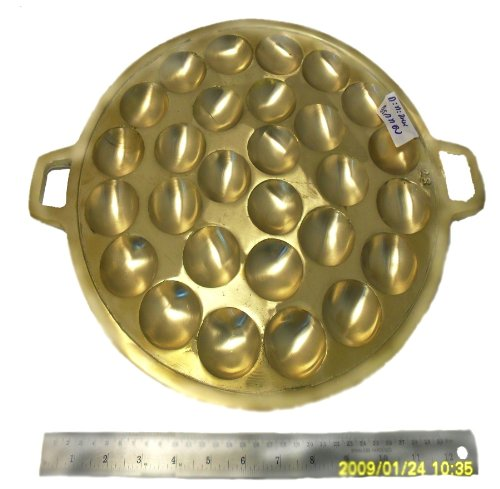 Antique Thai Kanom Krok Brass Cookware