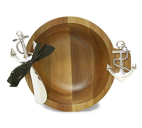 Anchor Bamboo Dip Bowl & Spreader Set