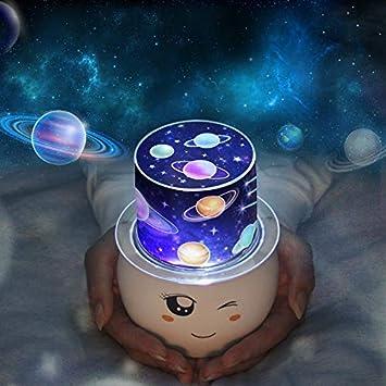 Sterne Projektor, 360 Grad Universum Nachtlicht Projektionslampe, Zimmer  Dekor Valentinstag Lampen Wandleuchten Birthdaty Hochzeit