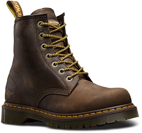 Dr. Martens Men's 7B10 Slip Resistant NS 7 Eye Boots, Brown Leather, 13 M UK, 14 M - From Shopping To Usa Uk