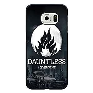 Fashionable City Background Divergent Dauntless Phone Case Cover for Samsung Galaxy S6 Edge Divergent Logo Hot Design Cover Shell