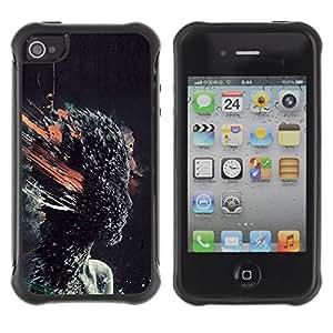 Be-Star único patrón Impacto Shock - Absorción y Anti-Arañazos Funda Carcasa Case Bumper Para Apple iPhone 4 / iPhone 4S ( Head Explosion )