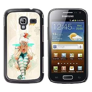 EJOY---Cubierta de la caja de protección la piel dura para el ** Samsung Galaxy Ace 2 ** --Hipster bailarina