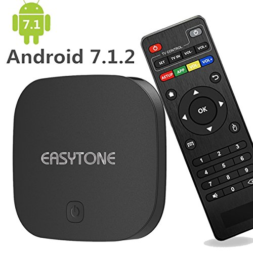 EASYTONE Android TV Box 7.1 Quad Core CPU 2GB RAM 16GB ROM,T95D Media Player Supporting 4K Full HD/H.265/3D Outputs Game Player for Home Entertainment Google Smart TV Box with WiFi LAN BT