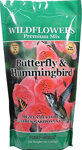 (JIFFY/FERRY MORSE SEED 390514 Wildflowers Butterfly and Hummingbird Seed Mix, 7 oz)