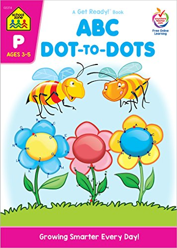 School Zone - ABC Dot-to-Dots Workbook - 64 Pages, Ages 3 to 5, Preschool to Kindergarten, Alphabet, Alphabetical Order, Sequencing, Eye-Hand ... More (School Zone Get Ready!TM Book Series)]()