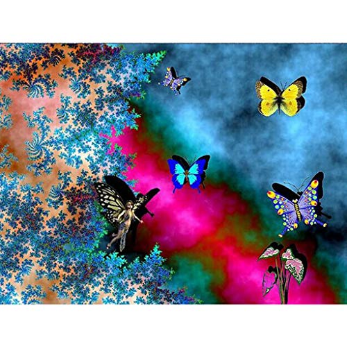 5D Full Drill Diamond Painting Animal Butterfly Flower Carrot Print Embroidery Kits Cross Stitch Rhinestone Pasted Wall Decor Home Decor Bedroom Living Room TV Backdrop Gift Present (A, 40x30cm)
