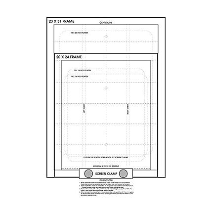 Amazon.com: Screen Printing Pre Registration Template Poster ...