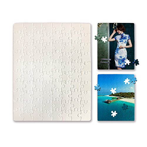 O BOSSTOP 7 5 X9 4 Inches Blanks White DIY Custom Jigsaw Puzzle 80 Pieces 6  Puzzles Per Package for Sublimation Blanks Heat Press Make Your Own