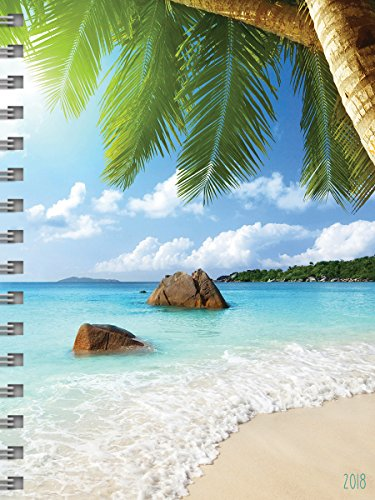 2018 Tropical Beaches Daily Weekly Monthly Planner, 16 Month Agenda Sept. 2017 - Dec. 2018