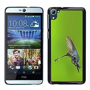 LECELL--Funda protectora / Cubierta / Piel For HTC Desire D826 -- alas de vuelo de aves colibrí verde --