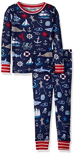 Little Blue House by Hatley Boys Long Sleeve Printed Pajama Set, Vintage Nautical, 6