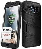 Samsung Galaxy S7 Edge Case, Zizo [Bolt Series] w/ [Galaxy S7 Edge Screen Protector] Kickstand [Military Grade DropTested] Holster Clip S7 Edge G935