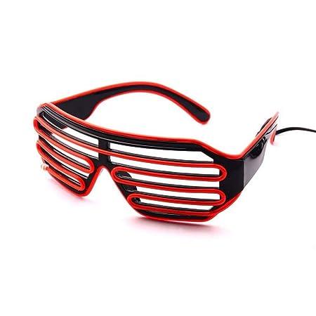 LQCN LED Gafas resplandecientes Gafas Disco de Halloween Bar ...