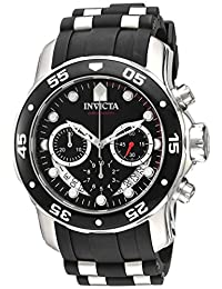 Invicta Men's 'Pro Diver' Quartz Stainless Steel and Silicone Automatic Watch, Black (Model: 21927)