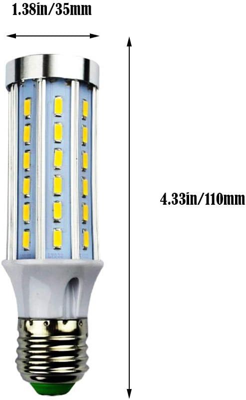 MD Lighting 10W E27 LED Corn Light Bulbs 4 Pack AC 85V-265V - 42 LEDs 5730 SMD 800 Lumen COB Light Lamp Ultra Bright Warm White 3000K LED Bulb 80 Watt Equivalent for Garage Barn Workshop Large Area