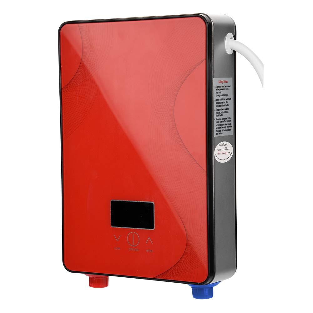 3000W Mini Calentador de Agua El/éctrico Instant/áneo Sin Tanque 220V Temperatura de Agua de Salida Ajustable para Uso Ba/ño Cocina EU Rojo 6500W 6500W Fdit Socialme-EU 8500W