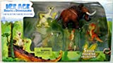 Ice Age Dawn of the Dinosaurs Limited Edition Mini Figurine Collection 5 Piece Collection (Sid, Scrat, Manny, T-Rex and Buck)