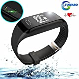 Towabo Fitness Tracker Wristband with Heart Rate monitor E3S Activity Watch Step Walking Sleep Counter Pedometer Exercise for Android and iOS