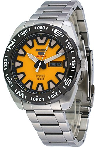 Seiko-5-Sports-SRP745J1-Japan-Version-Mens-Stainless-Steel-Yellow-Dial-100M-Automatic-Watch