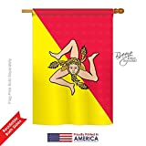 Breeze Decor – Sicily Flags of The World – Everyday Impressions Decorative Vertical House Flag 28″ x 40″ (108181) Printed in USA