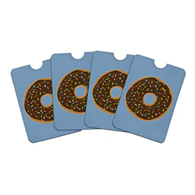Cute Donut with Sprinkles Chocolate Icing Credit Card RFID ...