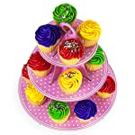 """Pink 3 Tier Cupcake Stand 