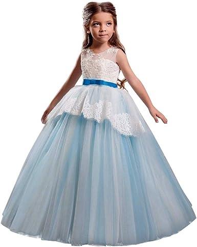 riou Vestido de Princesa del Desfile con Encajes sin Mangas Falda ...
