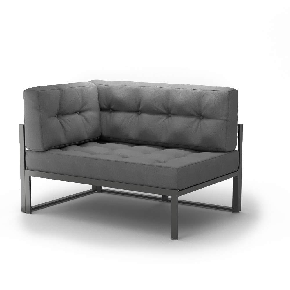 Alu Lounge Gartenmöbel Gartenmöbel Gartenmöbel inkl. Palettenkissen Gartenlounge Sitzgarnitur Sitzgruppe Grau 031e06