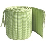 Tadpoles Classics Gingham Crib Bumper, Green (Discontinued by Manufacturer)