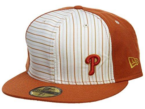 - New Era Pittsburgh Pirates Fitted Hat Mens Style: HAT613-DARK ORANGE/WHITE Size: 7 1/4
