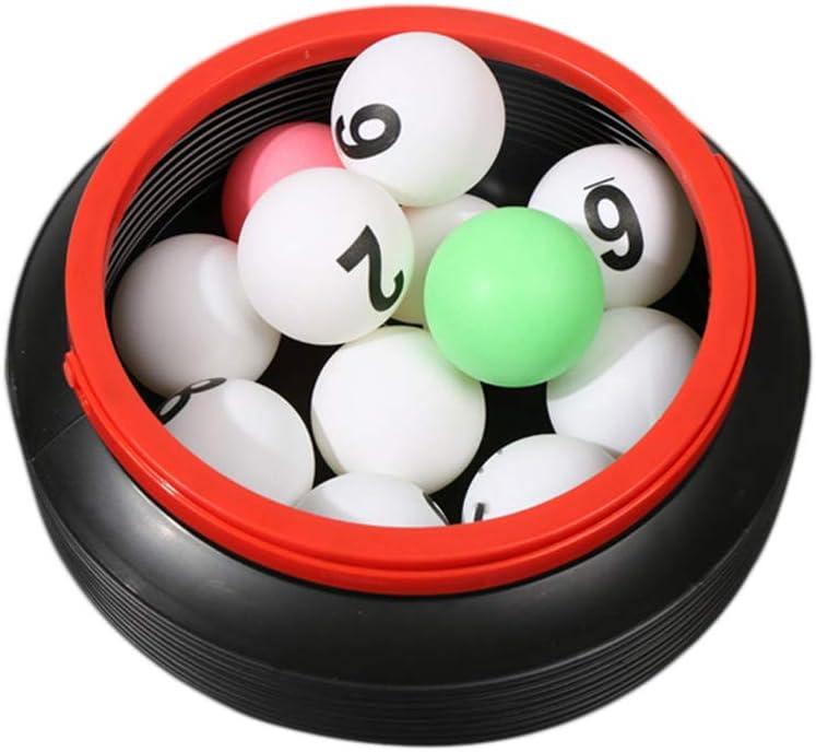 Amosfun 13 unids Lotería Número de Bolas de Tenis de Mesa Bolas de Ping Pong Cubo de Almacenamiento para la Decoración del Partido del Juego