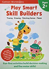 What's the Play Smart secret? Learning should be fun!Play Smart Skill Builders 2+ is packed with 70 fun-first, thoroughly engaging activities designed to enhance focus and fine motor skills. Children ages 2 and up will have a great time traci...