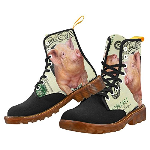 InterestPrint gun Print Lace Up Boots Fashion Shoes For Men Pig Money n1SFkeS