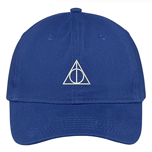 Trendy Apparel Shop Deathly Hallows Magic Logo Embroidered Soft Cotton Low Profile Cap - - Cap Low Profile Logo