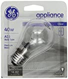 40 w fridge light bulb - GE 15206, 40-Watt, Appliance Bulb, Medium Base, A15 Bulb Shape, 1-pk, 120-Volt