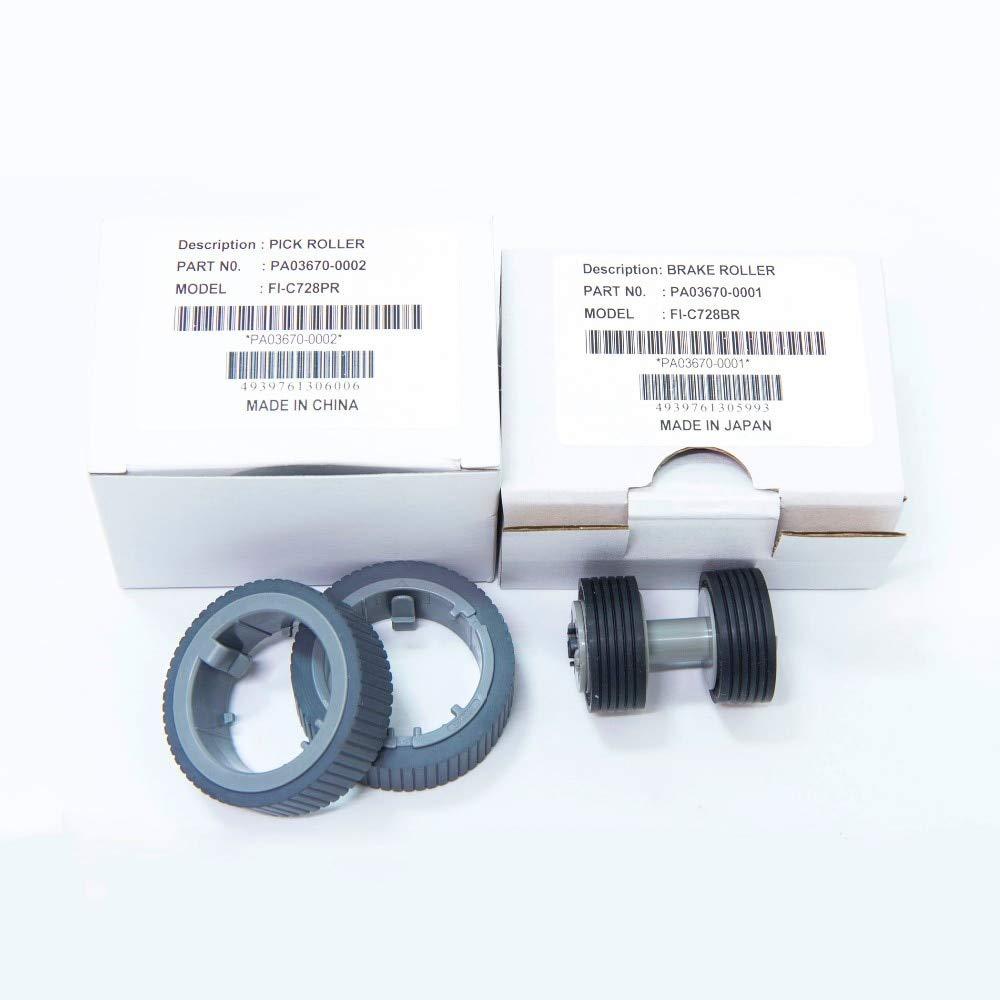 Printer Parts PA03670-0001 PA03670-0002 for Fujitsu Fi-7160 Fi-7180 Fi-7240 Fi-7260 Fi-7280 Fi-7460 Scanner Brake Pick Roller