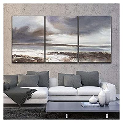 3 Panel Oil Painting Style Coastal Landscape x 3 Panels, Created Just For You, Majestic Expertise