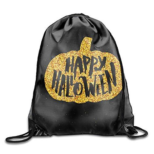 Happy Halloween Party Unisex Drawstring Backpack Travel Sports Bag Drawstring Beam Port Backpack -