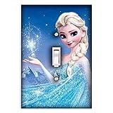 Elsa Frozen Decorative Single Toggle Light Switch Plate Cover