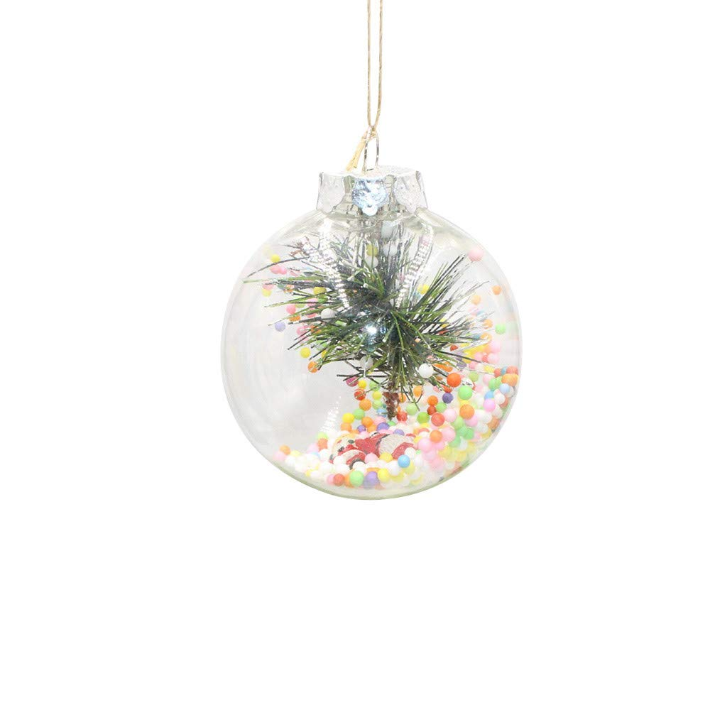 Christmas Tree Decorations Clearance,Jchen(TM) Merry Christmas 1 PC Christmas Tree Pendant Hanging Home Ornament Christmas Decoration Ball (6 cm)